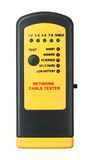 Cable tester. Network cable tester, isolated on white stock photos