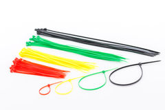 Cable ties colorful. Royalty Free Stock Photography