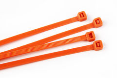 Cable ties in orange Royalty Free Stock Image