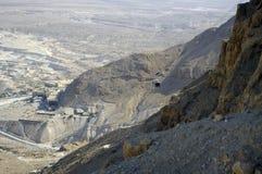 Cable to ancient fortress Masada. Israel. stock photo