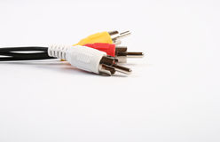 Cable to the TV Royalty Free Stock Photo