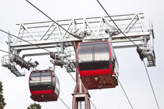 Cable tram car in the mountain Stock Image