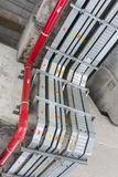 Cable Tray. The cable tray and piping construction at site Stock Photography