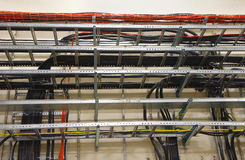 Cable Trays. At Electricity Room Stock Photos