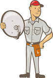 Cable TV Installer Guy Standing Stock Image