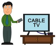Cable tv Royalty Free Stock Photo