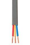 Cable usado en sistema eléctrico del cableado Imagen de archivo libre de regalías