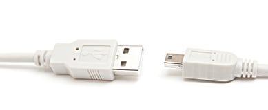Cable Usb y mini-usb aislado. Foto de archivo libre de regalías