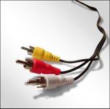 Cable video audio fotografía de archivo libre de regalías