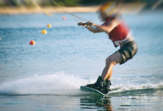 Cable Wakeboard. Royalty Free Stock Photography