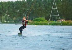 Cable wakeboarding Fotografía de archivo libre de regalías