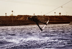 Cable wakeboarding handle pass Stock Images