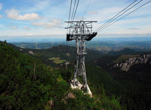 Cable way Royalty Free Stock Images