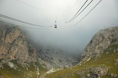 Cable-way in Alps. Stock Photos