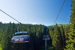 Cable way in the national park Low Tatras - Slovak Stock Photography