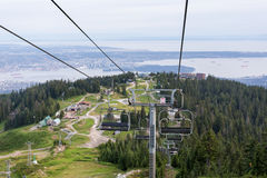 Cable way over Vancouver, Canada Stock Photos