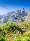 Cable way up to Table Mountain with cable car, Cape Town, South Royalty Free Stock Photo