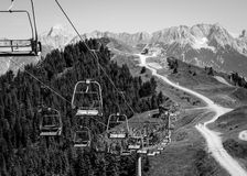 Cable way. In Zell am See Stock Photography