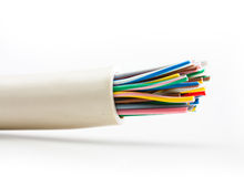 Cable on white background Royalty Free Stock Photo
