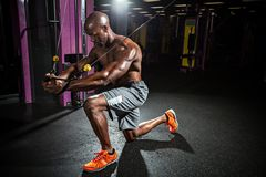 Cable Wire Chest Fly Workout Royalty Free Stock Photos