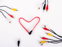 Cable wire heart Royalty Free Stock Images