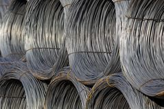 Cable Wire Rolls Kept Together Stock Photos
