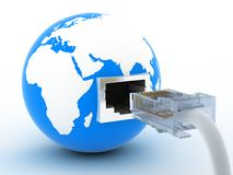 Cable and world Stock Images