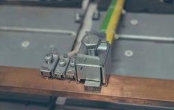 Cableado del PLC imagenes de archivo
