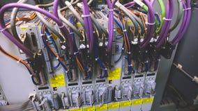 Cableado del PLC fotografía de archivo
