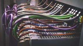 Cableado del PLC Fotos de archivo