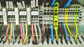 Cableado del PLC imágenes de archivo libres de regalías
