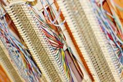 Cableado del teléfono imagenes de archivo