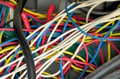 Cableado eléctrico fotografía de archivo