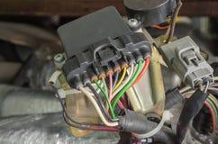 Cableado eléctrico colorido fotografía de archivo