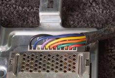 Cableado eléctrico colorido imagen de archivo libre de regalías