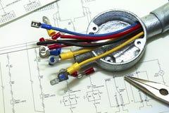 Cableado eléctrico Foto de archivo libre de regalías