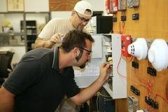 Cableado la alarma de incendio foto de archivo libre de regalías
