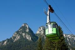 Cablecar. In the Bucegi mountain range Royalty Free Stock Photography