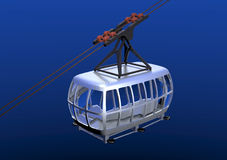 Cablecar 3D Royalty Free Stock Photography