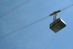 Cablecar. With blue sky in the mountains Royalty Free Stock Photography