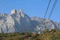 Cablecar at Ai-Petri, Crimea. Cablecar at Ai-Petri mountain, Crimea stock images