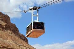 Cablecar at the ancient fortress of Masada Stock Image