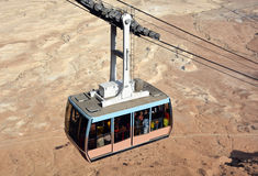 Cablecar at the ancient fortress of Masada Royalty Free Stock Photography