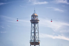Cablecar in Barcelona Stock Images