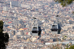 Cablecar in Barcelona, Spain Stock Images