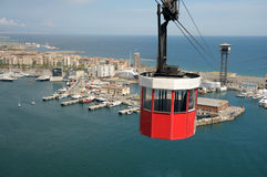 Cablecar in Barcelona, Spain royalty free stock photo