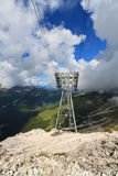 Cablecar in Dolomites Royalty Free Stock Photos
