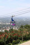 Cablecar over Almaty Stock Photo