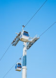 Cablecar over Barcelona, Spain Royalty Free Stock Photo