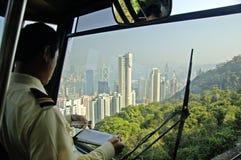 Cablecar przejażdżka z beautifil widokiem Hongkong Obrazy Royalty Free